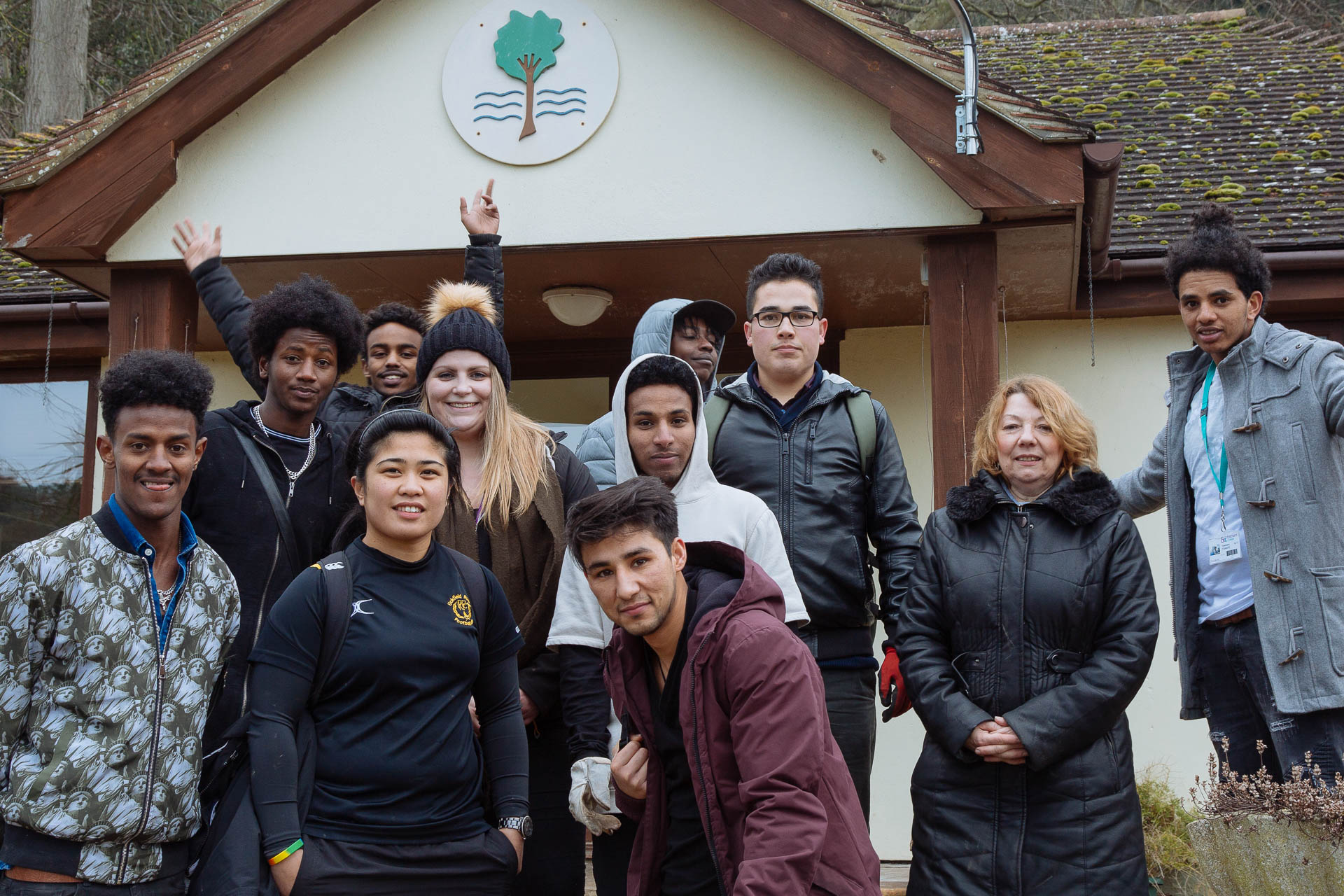 Garden volunteers from East Kent College